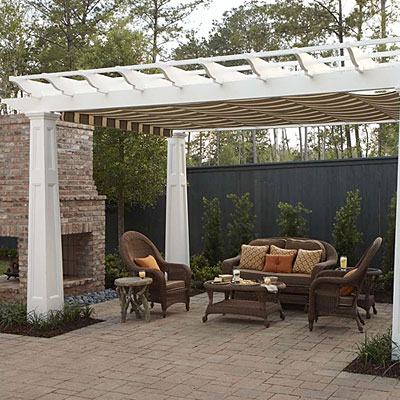 Style Guide: Pergola With Shade Fabric