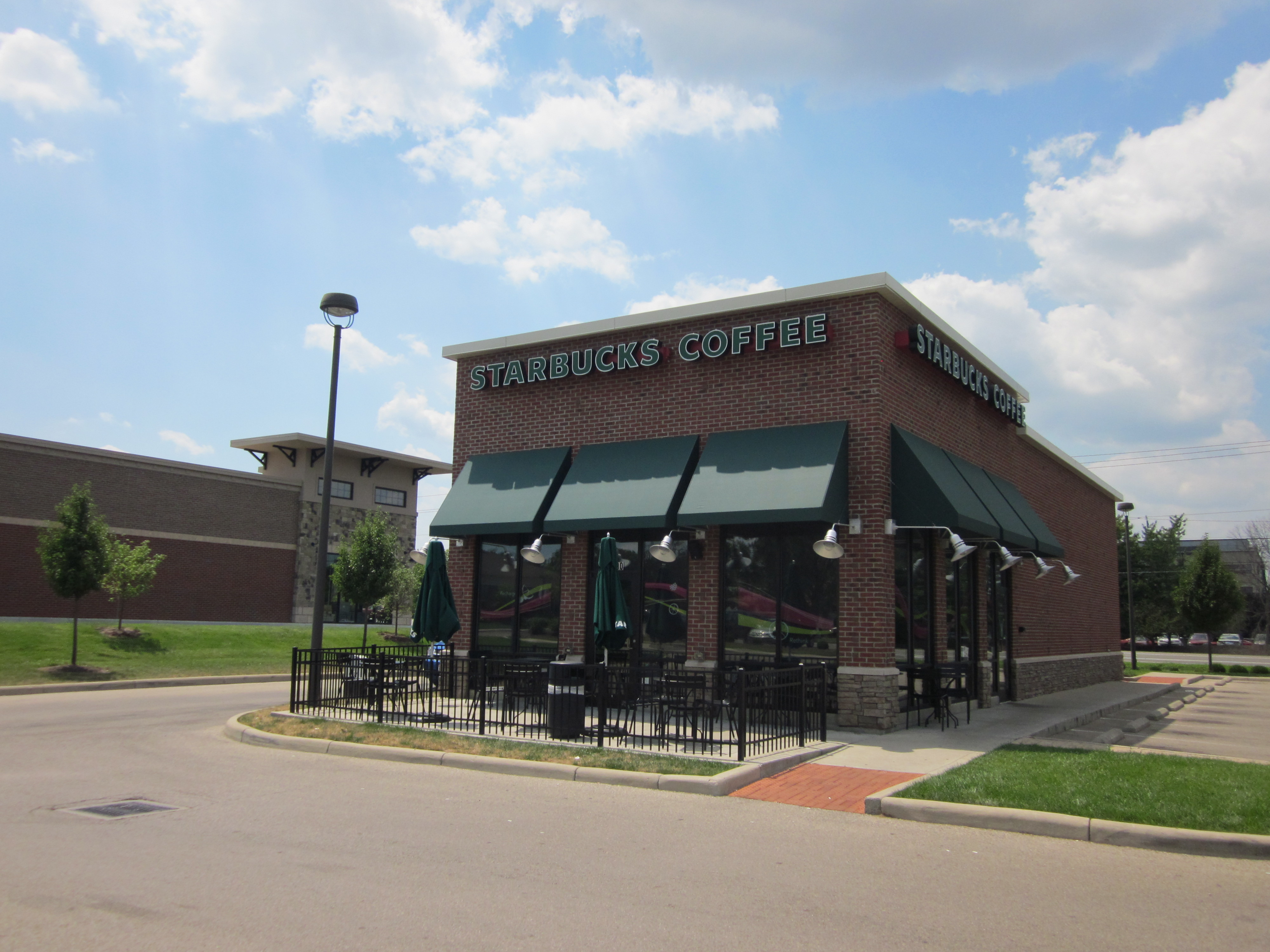 Superior Queen City Awning Commercial Project, Starbucks Classic Awnings