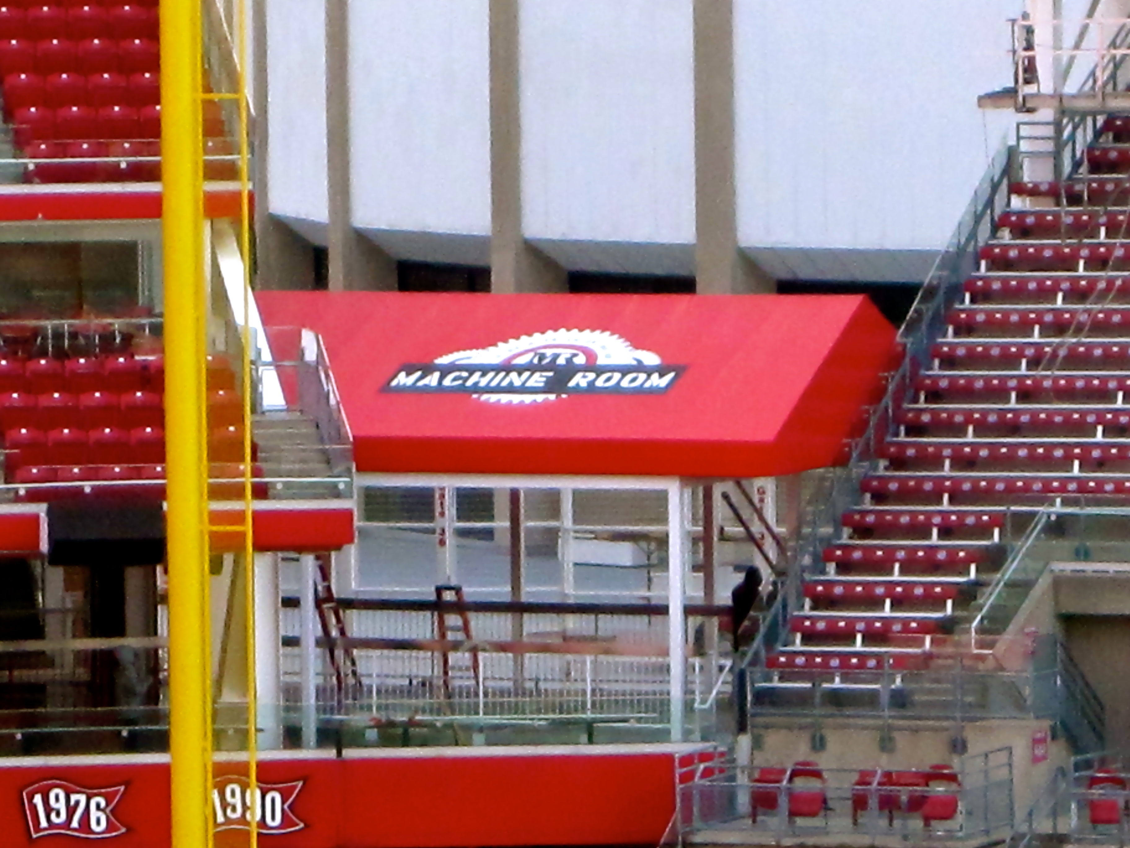 Cincinnati Reds Machine Room Canopy by Queen City Awning ...