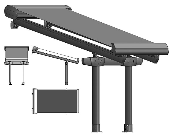 Attirant Retractable Awning With Dual Protection For Rain And Sun.